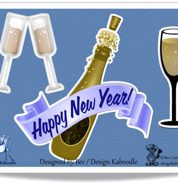 New Year's 2018 Stickers