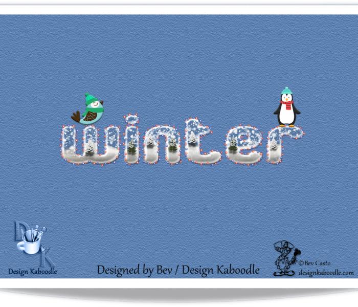 Winter Wonerland Wordart